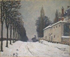 Alfred Sisley: Verschneite Strasse bei Louveciennes