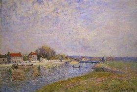 Alfred Sisley: Stauwehr am Loing-Kanal bei Saint-Mammes