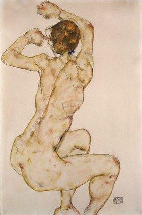 Egon Schiele: Die Kauernde