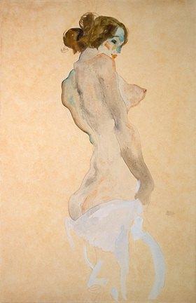 Egon Schiele: Stehender Akt mit weissem Hemd