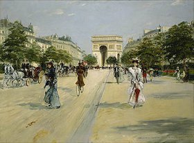 Georges Stein: Paris, Avenue du Bois de Boulogne