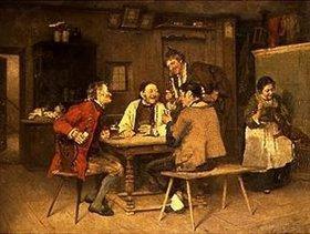 Heinrich Weber: Kartenspiel im Dorfwirtshaus