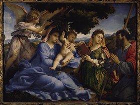 Lorenzo Lotto: Maria mit dem Kind und den hll.Katharina und Jakobus d.Ä