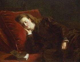 William Powel Frith: Beim Lesen eingeschlafen