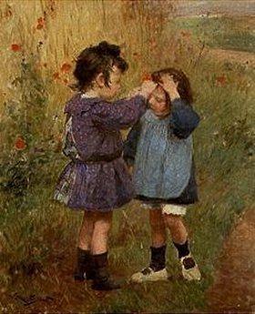 Victor Gabriel Gilbert: Ein Blümchen für die kleine Schwester