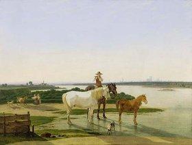 Wilhelm von Kobell: Isarlandschaft bei München