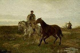 Mihály Munkácsy: Ungarische Reiter auf dem abendlichen Heimweg