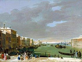 Bernardino Giuseppe Bison: Venedig im Schnee während des Karnevals