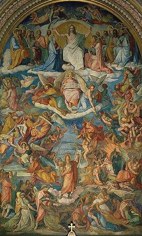 Peter von Cornelius: Das jüngste Gericht, Chorfresko