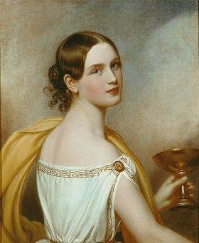 Joseph Karl Stieler: Antonia von Ott, geb. Wallinger. 1840. Aus der Schönheitengalerie