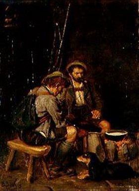 Franz von Defregger: Jäger bereiten ihr Essen