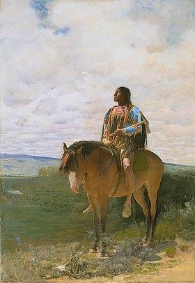 George de Forest-Brush: Sioux-Indianer zu Pferd