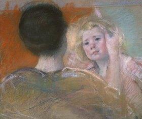 Mary Cassatt: Sarah wird gekämmt