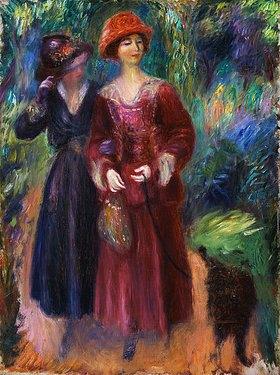 William James Glackens: Zwei Frauen beim Spaziergang im Park