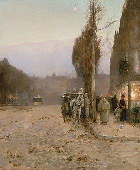 Frederick Childe Hassam: Früher Abend auf dem Boulevard (Paris)
