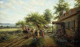 Edward Lamson Henry: Kriegsneuigkeiten im Jahre 1812. Gemalt