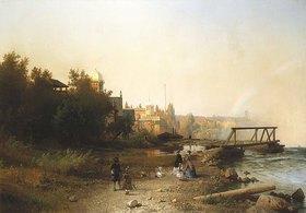Hermann Herzog: Blick vom Museum auf Niagara und den Rand der Hufeisen-Fälle