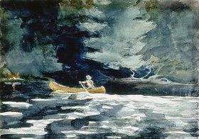Winslow Homer: Im Kanu zurück zum Camp