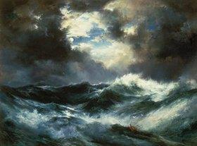Thomas Moran: Schiffswrack in stürmischer nächtlicher See