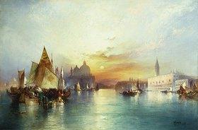 Thomas Moran: Sonnenuntergang über Venedig