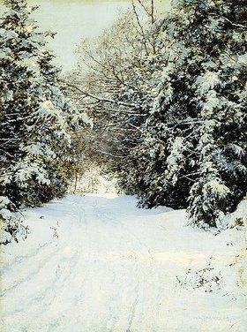 Walter Launt Palmer: Verschneiter Waldweg