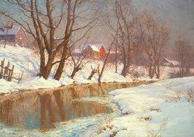 Walter Launt Palmer: Wintermorgen am Bach