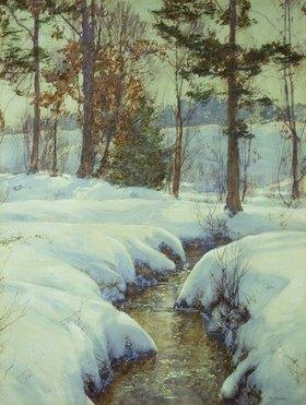 Walter Launt Palmer: Bächlein im Schnee