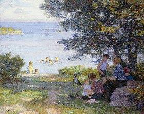 Edward Henry Potthast: Mütter mit Kindern am schattigen Ufer