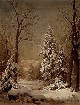 William Trost Richards: Schneebedeckte Bäume