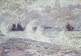 Theo van Rysselberghe: Stürmische See bei Boulogne-sur-Mer