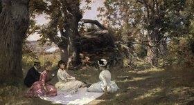 Julius Leblanc Stewart: Picknick unter Bäumen