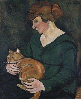 Suzanne Valadon: Frau mit Katze (Louson et Raminow)