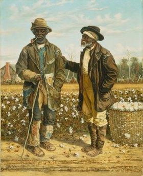 William Aiken Walker: Zwei alte schwarze Baumwollpflücker im Gespräch