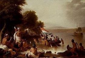 Robert Walter Weir: Die Landung von Henry Hudson 1608 bei Verplanck (Peekskill/N.Y.)