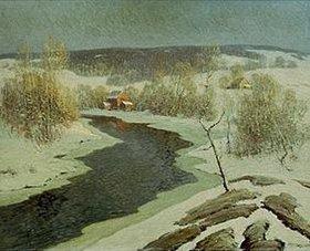 Ernest Albert: Amerikanische Winterlandschaft mit Fluss