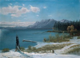 Albert Bierstadt: Winterlicher Lake Tahoe