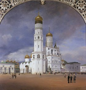 Johann Philipp Eduard Gaertner: Panorama des Kreml, 1839. Mitteltafel des Triptychons