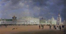 Johann Philipp Eduard Gaertner: Panorama von Moskau, 1839. Linke Tafel des Triptychons