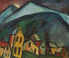 Alexej von Jawlensky: Berglandschaft mit Häusern