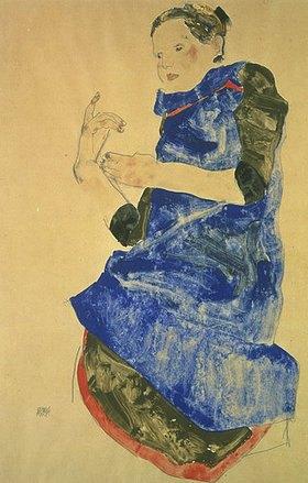 Egon Schiele: Mädchen mit blauer Schürze