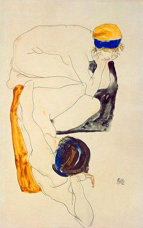 Egon Schiele: Zwei liegende Figuren