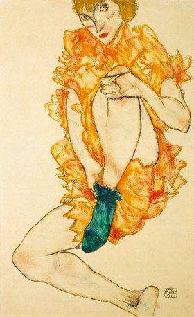 Egon Schiele: Der grüne Strumpf