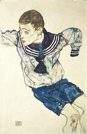Egon Schiele: Knabe in Matrosenanzug