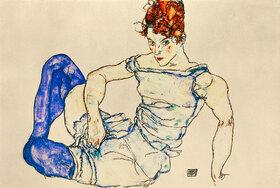 Egon Schiele: Sitzende Frau mit violetten Strümpfen