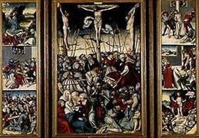 Lucas Cranach d.Ä.: Kreuzigungsaltärchen mit Szenen der Passion Jesu