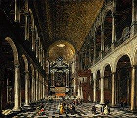 Anton Günther Ghering: Innenansicht der Jesuitenkirche in Antwerpen