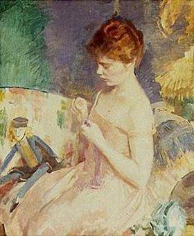 Cecilia Beaux: Beim Nähen von Puppenkleidern