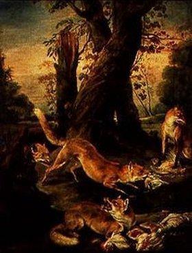 Jean-Baptiste Oudry: Füchse mit ihrer Beute