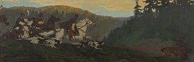 Nikolai Konstantinow Roerich: Der Prinz bei morgendlicher Elchjagd