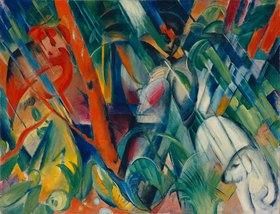 Franz Marc: Im Regen. 1912